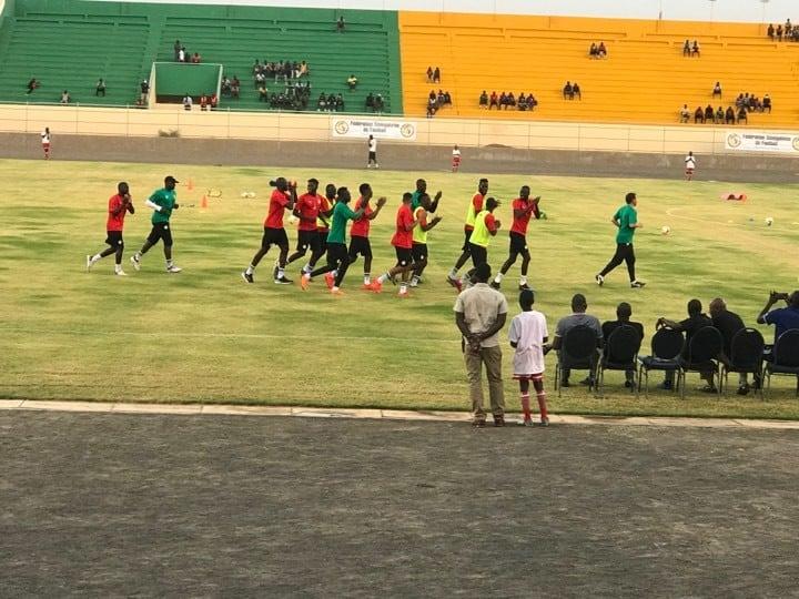 d'entrainement, dernier galop, L'équipe nationale fin prête