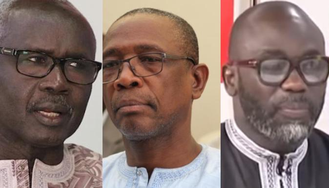 Rapport de l'Ige : Cheikh Yerim et Mody Niang descend El Hadji Kassé : - Hamidou KASSE portant des lunettes posant pour la caméra - Barbe