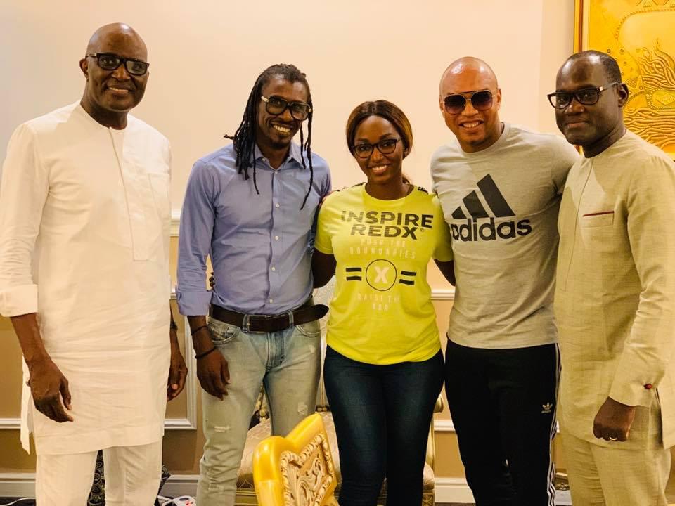 68658134 2348293551950404 5780739733730623488 n - Babacar Ngom réunit Diouf et Aliou Cissé autour d'une table (photos)