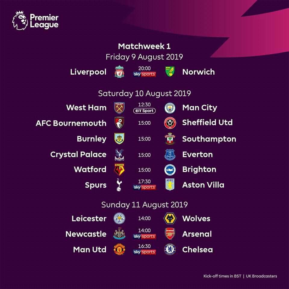 68675905 1113087382213344 4330885742424227840 n - Foot : La Premier League de retour, découvrez le programme du week-end