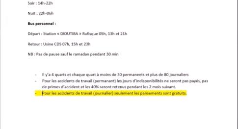 jrnaliers - Exploitation en entreprise : De graves révélations aux Ciments du Sahel...