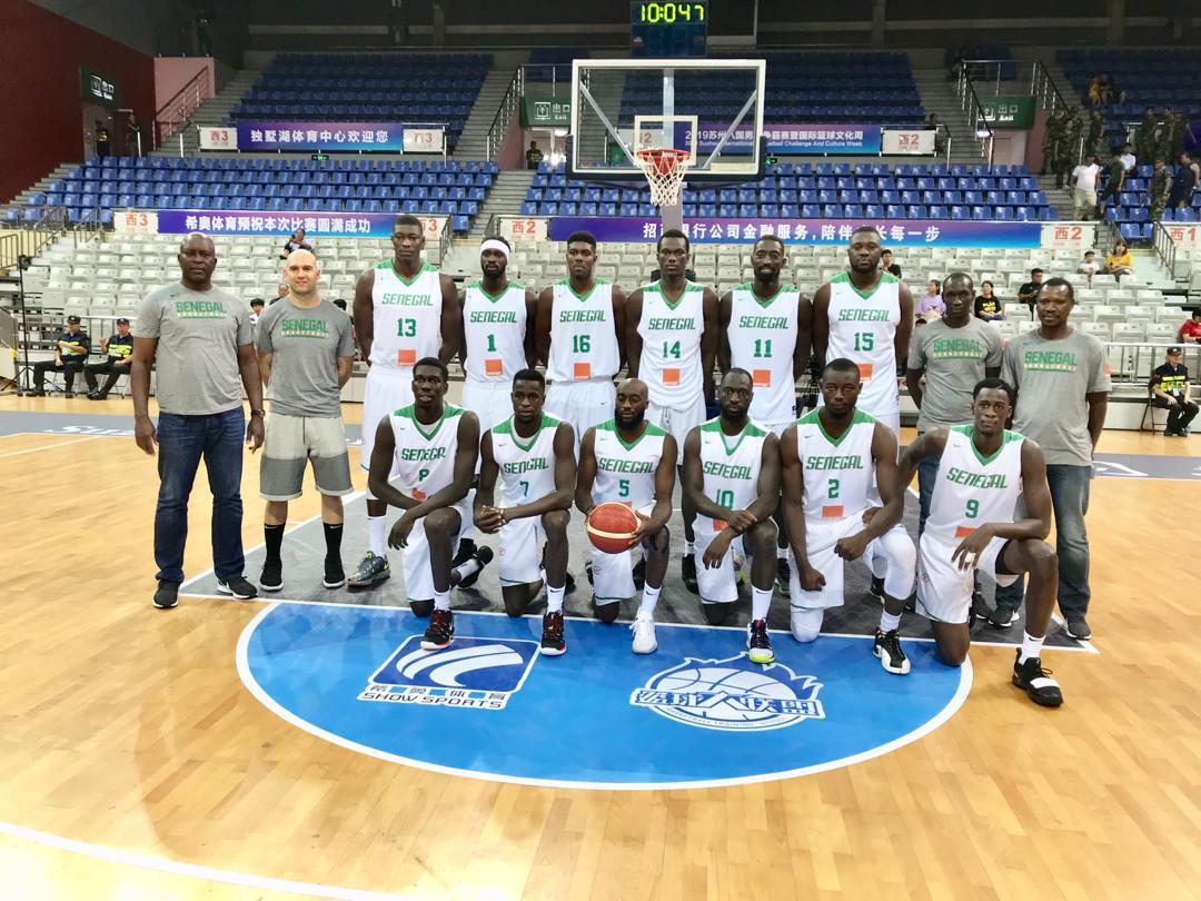 lions du sénégal de basket en préparation pour le mondial 2019