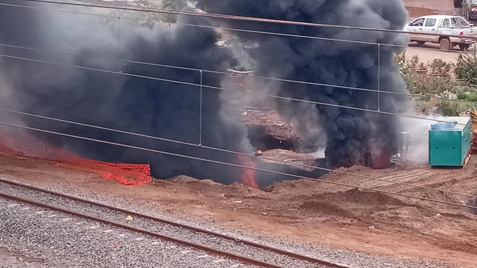 6 1 - Dalifort : Un pipeline prend feu (Photos)