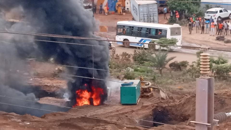 8 - Dalifort : Un pipeline prend feu (Photos)