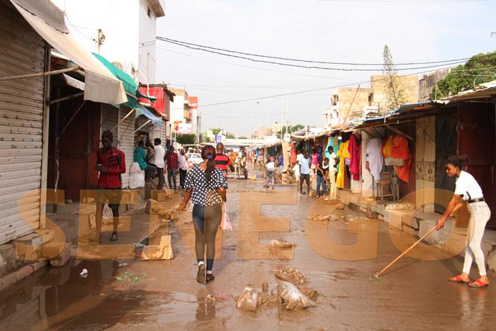 marche hlm pluie 1 - (20 photos) -Tornade à Dakar : Arbres déracinés, toits envolés...