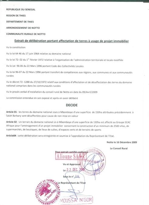 delibere notto diobass - Escroquerie foncière : Le ministre Alioune Sarr au banc des accusés