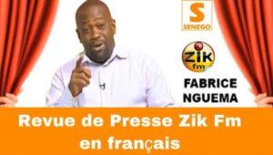 Revue de Presse Zik fm en français