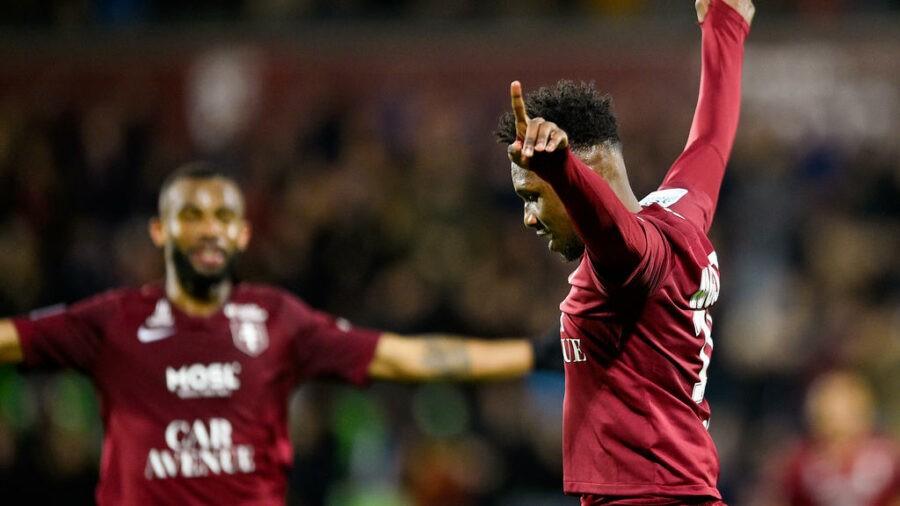 Angers vs Metz (1-1): Opa Nguette décisif sur une passe de Lamine Guèye (vidéo)