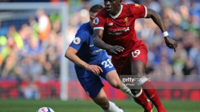 Sadio Mane of Liverpool during English Premier League match between Chelsea and Liverpool at Stamford Bridge, London, England on 6 May 2018. (Photo by Kieran Galvin/NurPhoto)