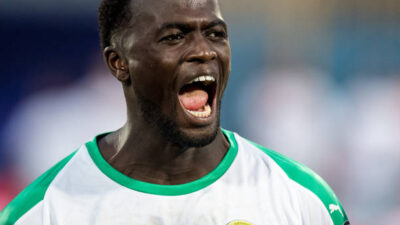 CAIRO, EGYPT - JUNE 23: Mbaye Niang of Senegal reacts during the 2019 Africa Cup of Nations Group C match between Senegal and Tanzania at 30 June Stadium on June 23, 2019 in Cairo, Egypt. (Photo by Sebastian Frej/MB Media/Getty Images)